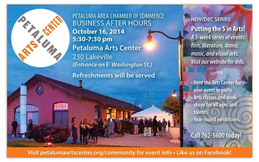 Petaluma Arts Center Business Mixer Ad 2014