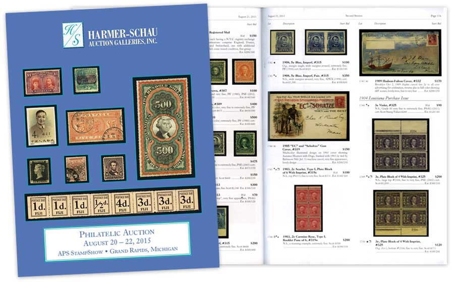 Harmer-Schau Philatelic Auction Catalog