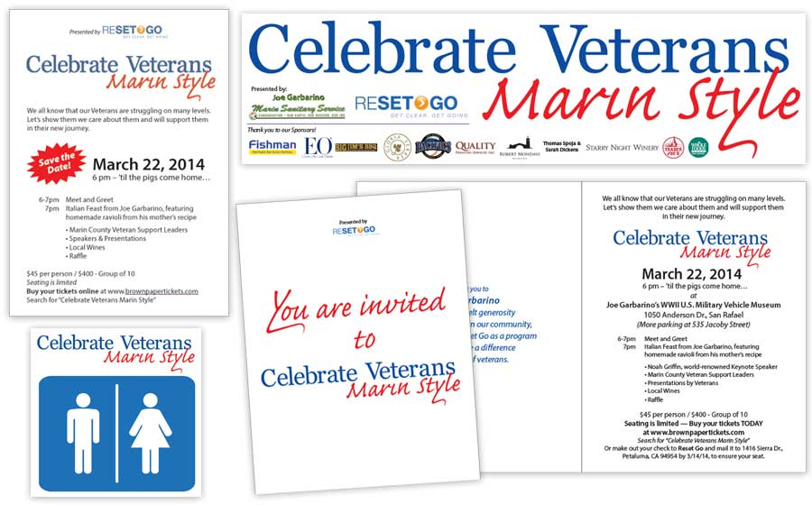 Celebrate Veterans Marin Style Event Marketing Materials
