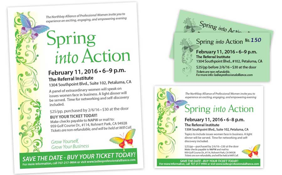 Spring Into Action Event Marketing Materials