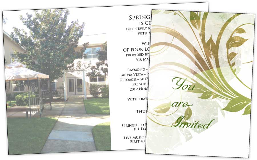 Springfield Place Invitation