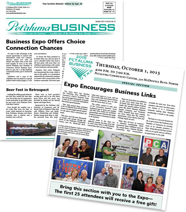 Petaluma Area Chamber of Commerce Newspaper