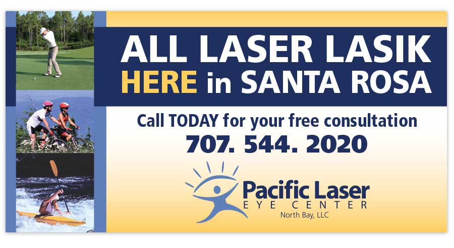 Pacific Laser Eye Center Window Sign