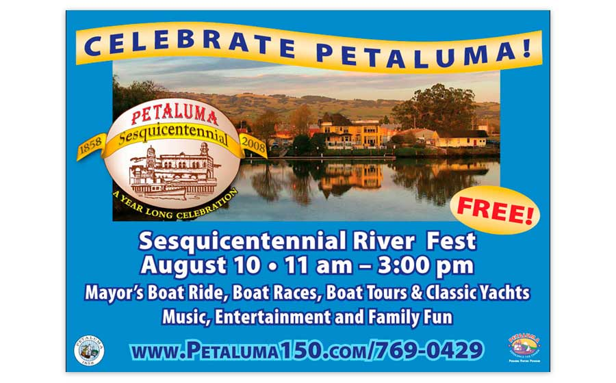 Petaluma Sesquicentennial Celebration Billboard