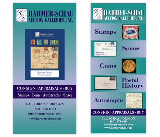 Harmer-Schau Auction Galleries Trade Show Banners