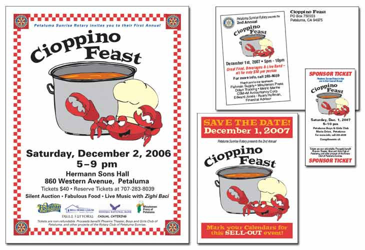 Cioppino Feast Brand, first 3 years