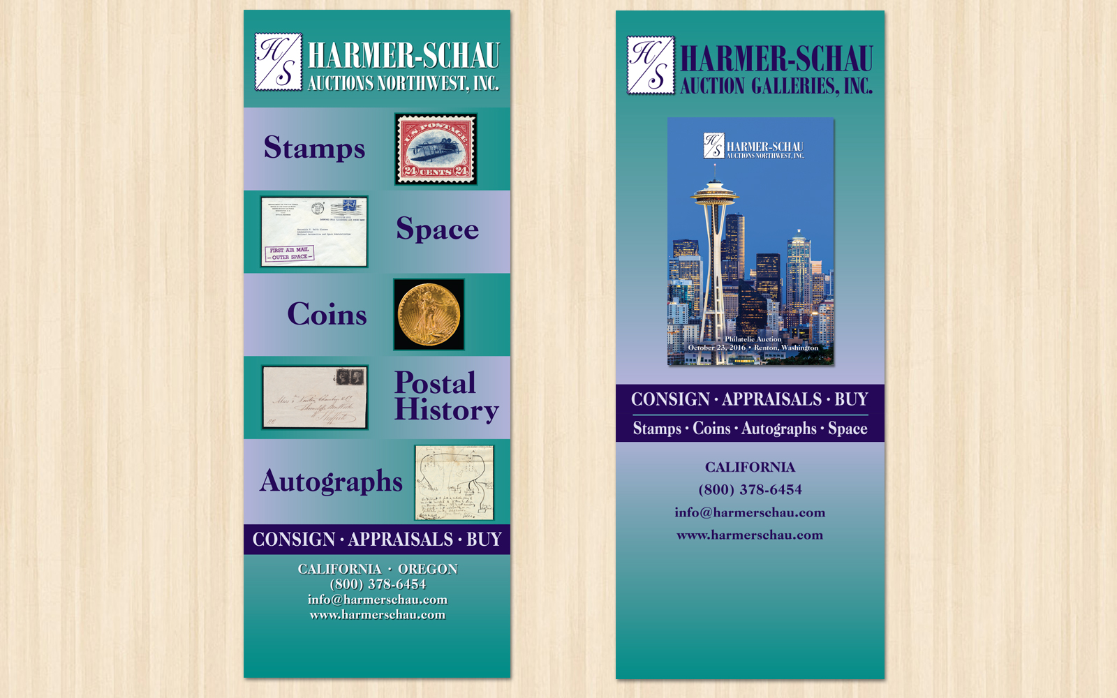 Harmer Schau Auction Galleries Trade Show Banners