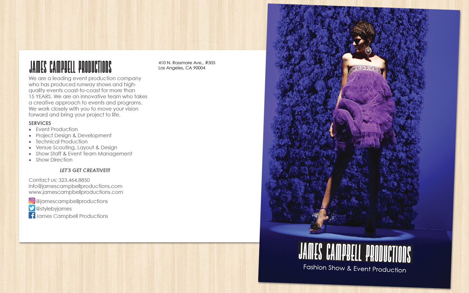 James Campbell Productions Postcard