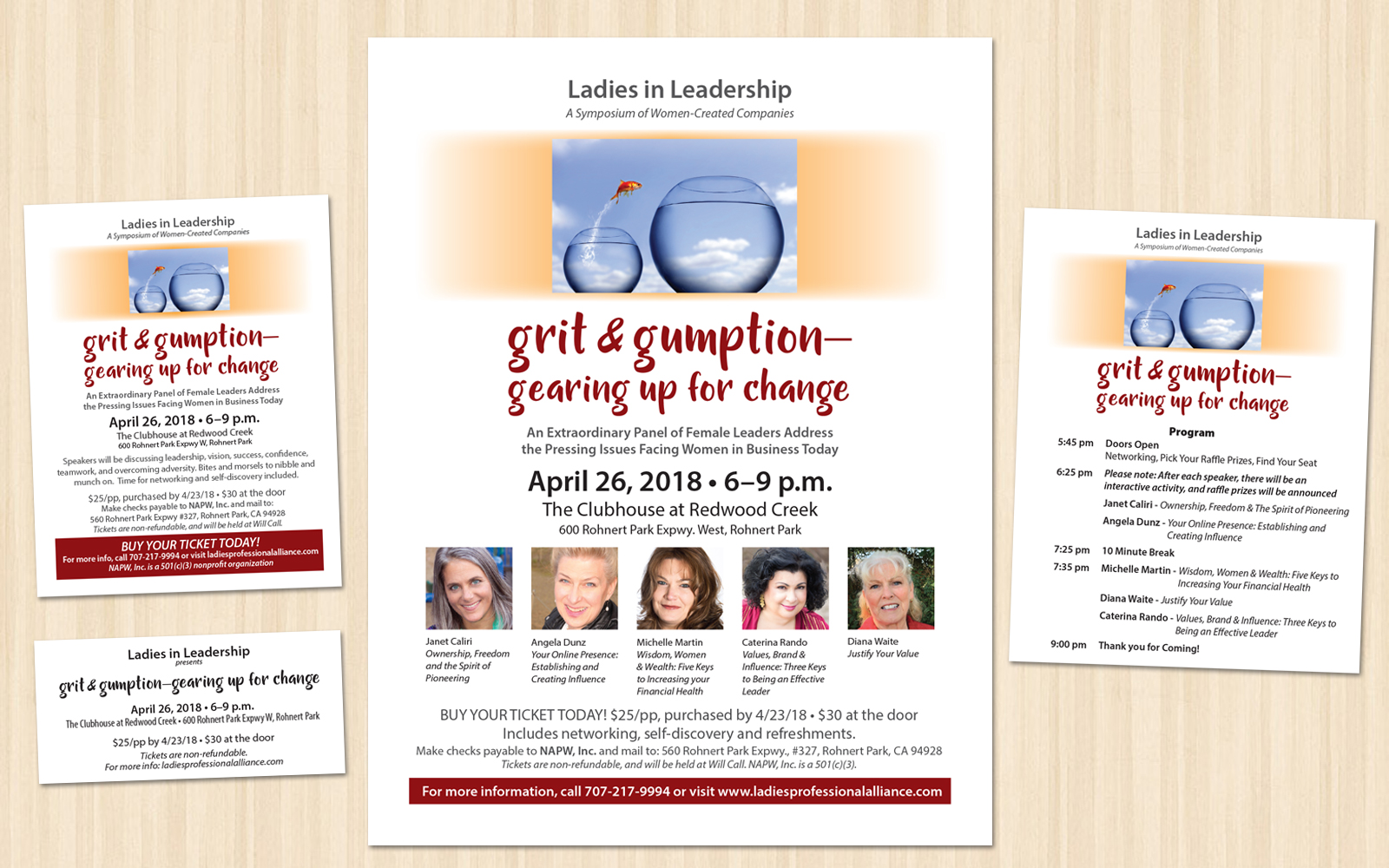 Ladies In Leadership Grit And Gumption Event Materials