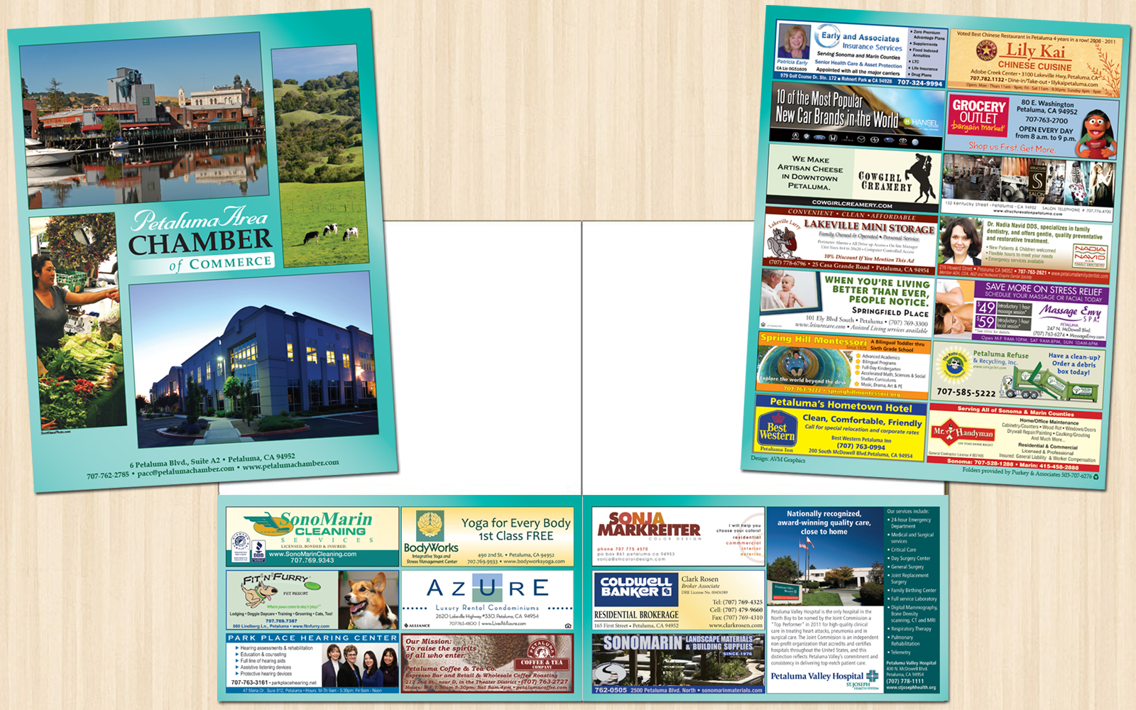 Presentation Folder For The Petaluma Area Chamber Of Commerce