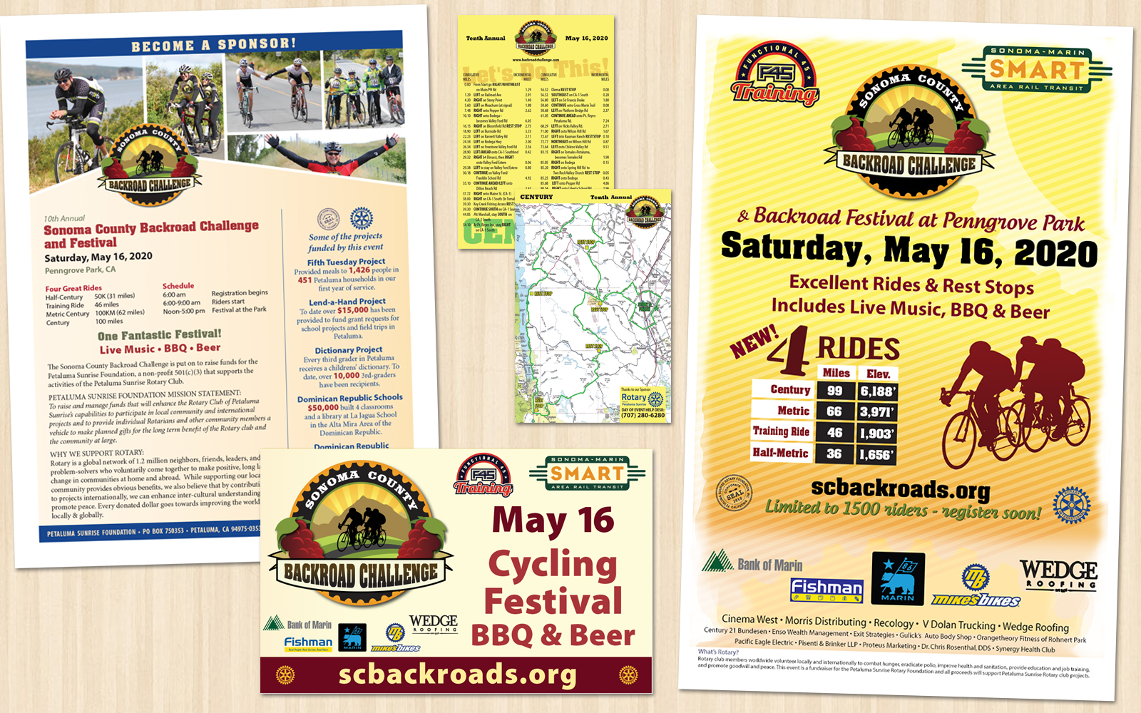 Sonoma County Backroad Challenge 2020 Marketing Materials