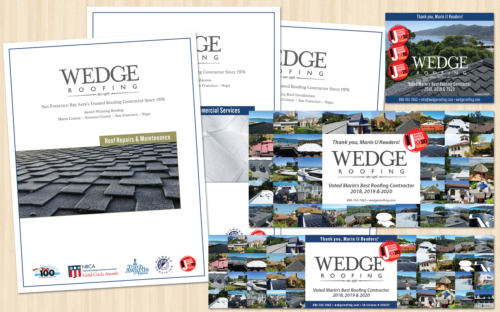 Wedge Roofing Marketing Materials And Ads